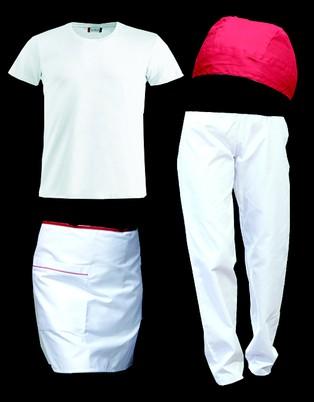 Kit Pizzaiolo con pantaloni bianchi - Aurelio Polidoro Abbigliamento da  lavoro 5c0370d68ee3